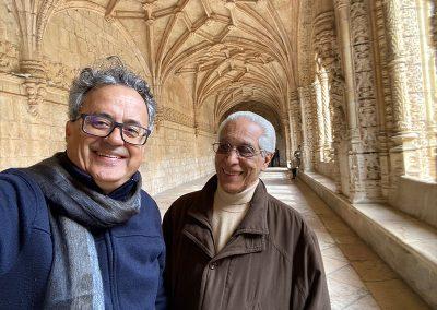 Com o Lauro Moreira em Lisboa, bastidores do filme VOLTA À CASA PATERNA