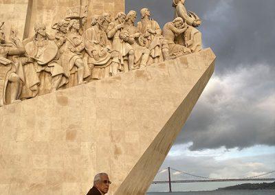 Padrão do Descobrimento, Lisboa, bastidores do filme VOLTA À CASA PATERNA