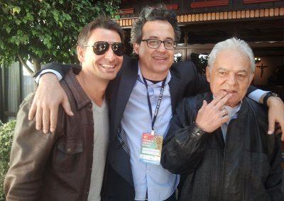 Com Murilo Rosa e Othon Bastos no Festival de Cinema de Gramado