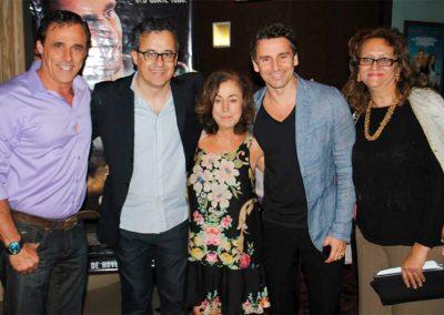Com Oscar Magrini, Malú Moraes, Murilo Rosa e a produtora Débora Torres em Brasília.