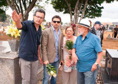 Alberto Araújo dirigindo os atores Murilo Rosa, Bete Mendes e Lima Duarte no filme VAZIO CORAÇÃO.